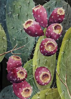 Paddle Cactus with Fruit