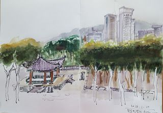Drawing at the National Museum of Korea