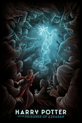 "MUTI - Harry Potter ""A series of illustrated posters, each"