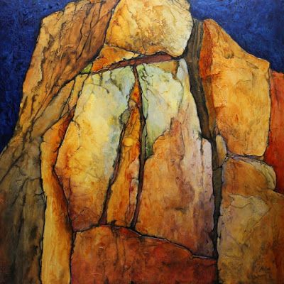 "Geologic Abstract Painting, ""Pinnacle"" by Carol Nelson Fine Art"