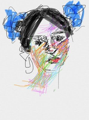 Drawing with My Fingertip IPhone Art - portrait drawing