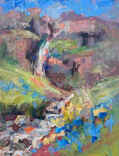 """New """"Cascades"""" from Iceland by Contemporary Impressionist Niki Gulley"""