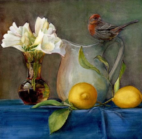 Still Life Watercolors - Painting Larger Using a Grid Drawing System