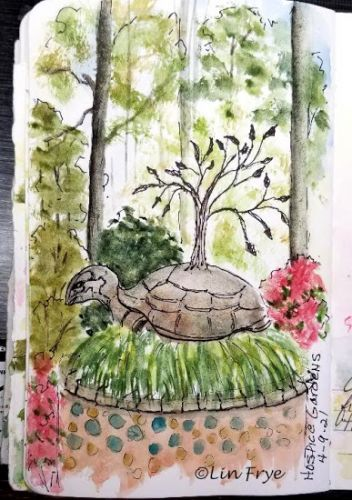 Sketchbook Journal - Hospice Gardens