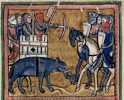 A selection of medieval elephants for World Elephant Day