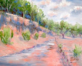 Creek Bound 7, New Contemporary Landscape Painting by Sheri Jones