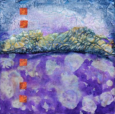 "Abstract Contemporary Mixed Media Art Painting ""STAIRWAY TO THE SKY"