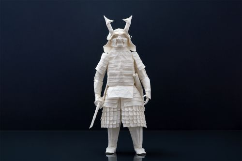 This Elaborately Armored Samurai Was Folded From A Single Sheet of Paper