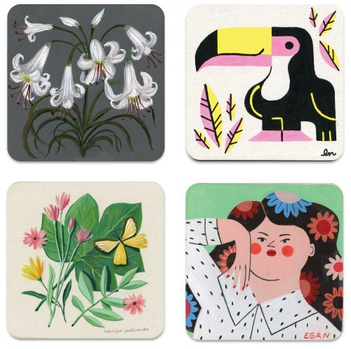 An Annual Exhibition Features Over 1,000 Illustrated Coasters at Nucleus Portland