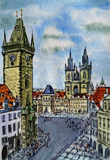 Prague Czech Republic - Travel With Me - Sketchbook Project