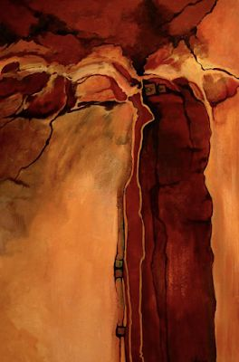 """Southwest Abstract Fine Art Print, Contemporary Art """"Sacred Ground"""