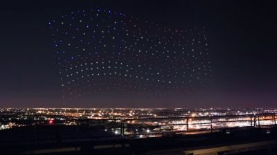 Intel Flew 300 Drones in Sync to Create an Epic Light Show at the Super Bowl