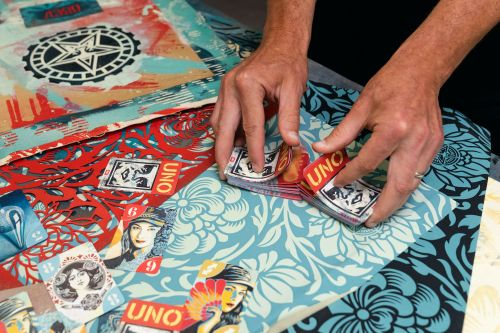 """New """"Artiste"""" Deck by Shepard Fairey OBEY x UNO Collaboration"""