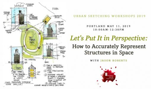 Urban Sketching Workshop on Perspective with Jason Roberts on May 11