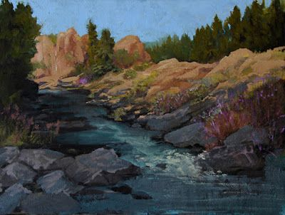 """Mountain Landscape Oil Painting, """"Red Rock Canyon"""" by Colorado Artist Susan Fowler"""