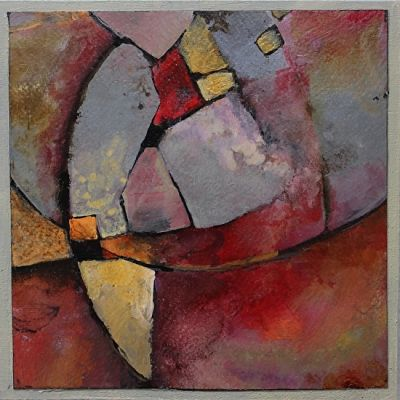 """Contemporary Abstract Geological Painting """"MOSAIC 1"""" © Carol Nelson Fine Art"""
