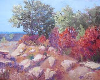 Autumn Color Combo, New Contemporary Landscape Painting by Sheri Jones
