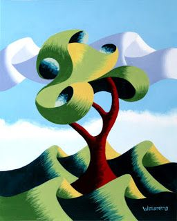 Mark Webster - Untitled Abstract Landscape Oil Painting 12-4-13