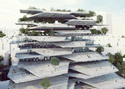 A Retrofit in the UK and an Administrative Building in South Korea: 9 Unbuilt Office Projects Submitted to Archdaily