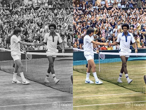 These Colorized Iconic Tennis Images Celebrate the Return of Wimbledon