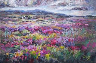 """New """"Tranquility Imagined"""" of Scottish Heather by Niki Gulley"""