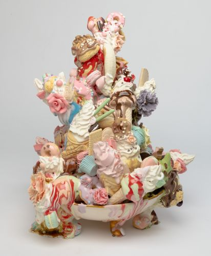 Realistic Ceramic Sculptures of Decadent Desserts Examine Our Culturally Complex Relationship With Food