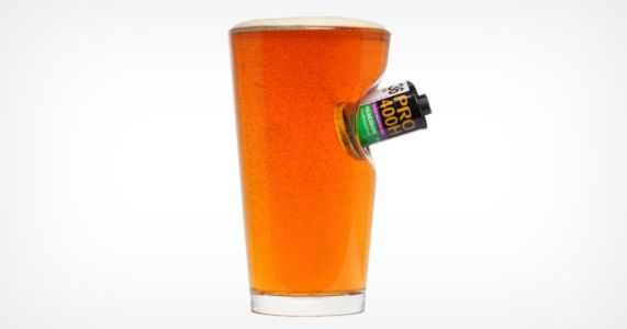 This Pint Glass Comes Embedded with a Real 35mm Film Canister