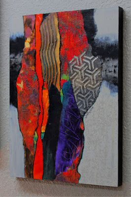 "Mixed Media Abstract, ""Tribal Gathering"" © Carol Nelson Fine Art"