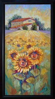 """New """"Bundle of Sunshine"""" Sunflower Palette Knife Painting by Niki Gulley"""