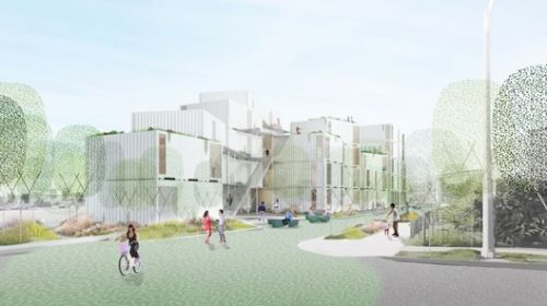 LOHA Breaks Ground on Modular Supportive Housing for Los Angeles