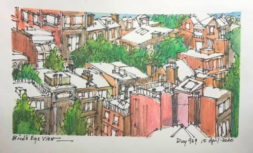 Urban Sketches - Present and Past