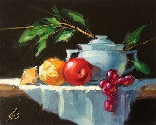 STILL LIFE WITH FRUIT by TOM BROWN
