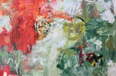 """Contemporary Art, Abstract Painting, Expressionism, """"OH HAPPY DAY"""" by Oklahoma Artist Nancy Junkin"""