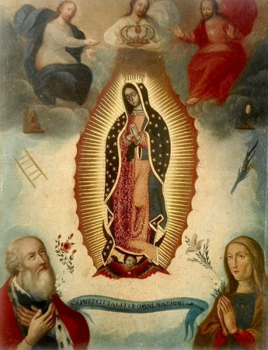 Our Lady of Guadalupe - formal paintings that influenced retablo artist