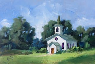 COUNTRY CHURCH by TOM BROWN