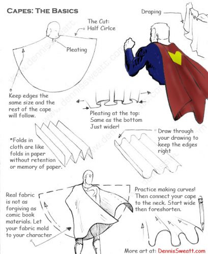 Five tips: How to Draw Capes for Comic Books