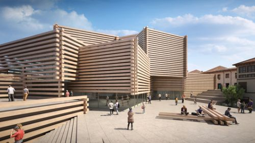 Kengo Kuma's Stacked Timber Museum in Turkey Opens in June