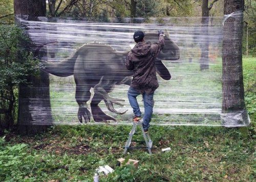 """Cellograffiti Series by Evgeny Ches """"Russian artist Evgeny Ches"""