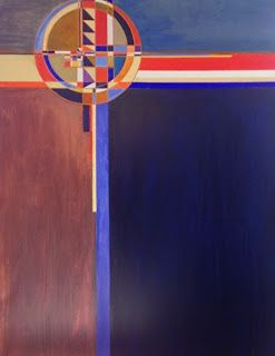 """Contemporary Art, Abstract Painting """"Legion of Honor"""" by Contemporary Artist Lou Jordan"""