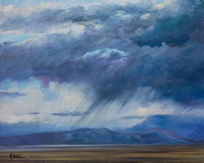 "Original Western Landscape Fine Art Oil Painting ""Storm Over Grand Mesa"" by Colorado Artist Nancee Jean Busse, Painter of the American West"