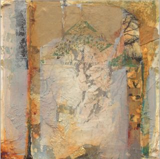"Contemporary Abstract Mixed Media Painting ""First Epilogue"" by Intuitive Artist Joan Fullerton"