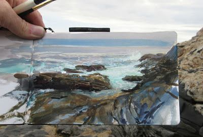 Painting at Pemaquid Point