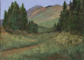 "Colorful Colorado Mountain Landscape Oil Painting ""To The Mountains"" by Colorado Artist Susan Fowler"