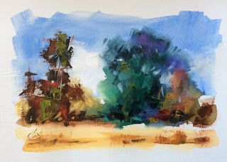 COLORFUL FIELD STUDY by TOM BROWN