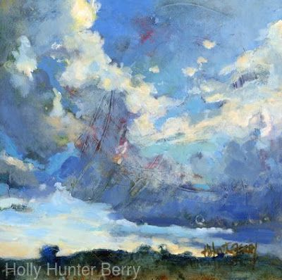 """Contemporary Landscape, Small Landscape Painting """"Always Another Day"""" by Passionate Purposeful Painter Holly Hunter Berry"""