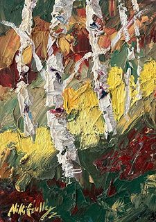 Seasonal Changes 2 Palette Knife Painting by Niki Gulley