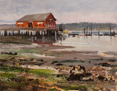 """""""Classic Coupeville"""" Whidbey Island pIein air by Robin Weiss"""