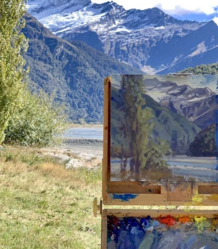 Plein Air Painting Workshop in Wanaka, New Zealand with Lori McNee, March 2021