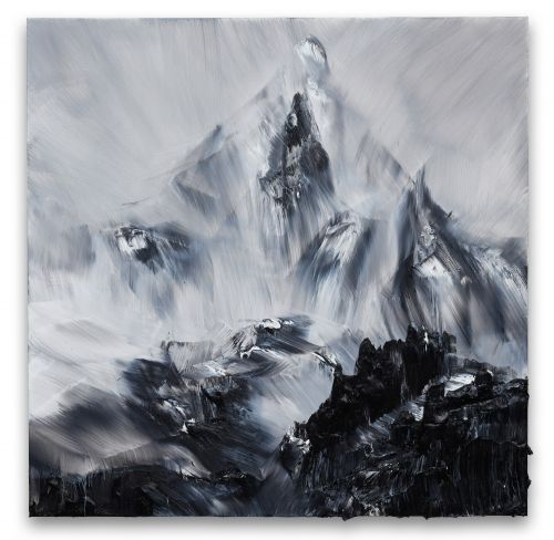 Impasto Mountains Rise from the Canvas in Richly Textured Paintings by Conrad Jon Godly