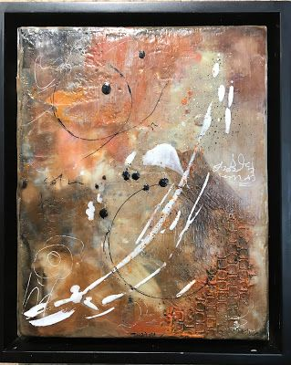 """Encaustic Abstract Art, Mixed Media, Contemporary Painting, """"Effusive"""" by Texas Contemporary Artist Sharon Whisnand"""
